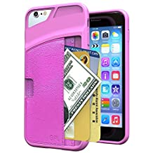 iPhone 6S Case, GPL [S-Pouch] Ultra Slim PU Leather Protective Carrying Wallet Card Case for Apple iPhone 6S (2015) / 6 (2014) - Pink