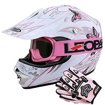 Leopard LEO-X18 Casco de Motocross para Niños Bicicleta Motocicleta ATV Patio ECE 22-