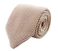 "Men's Skinny Knit Tie Vintage Mixed Pattern Casual 2.4"" Necktie - Various Colors"