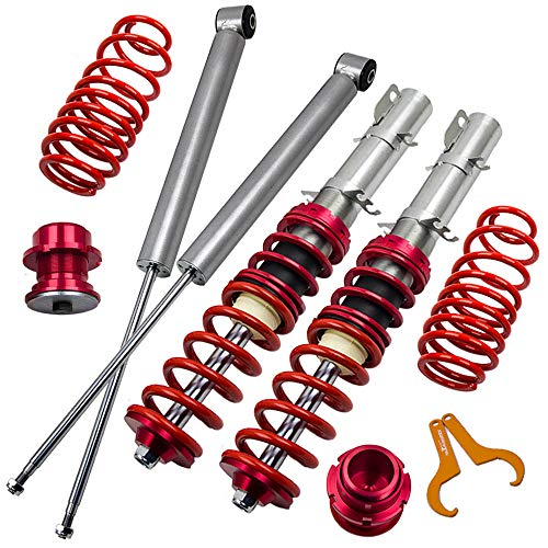 Lowering Coilovers Kits for VW Golf MK4, Jetta MK4, Audi A3 MK1, New Beetle 1997-2010, SKODA Octavia 1997-2004, Lavida 2008-present – Red – Go4CarZ Store
