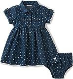 Calvin Klein Baby Girls' 2 Pieces Denim Dress with Panty, Dark Blue, 6/9M