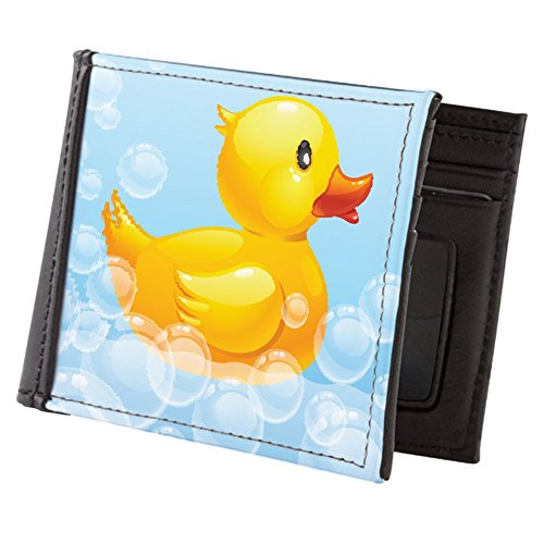 Duck Money Clip - CafePress - Duck In Bubbles - Mens Wallet, Bi-fold Wallet, Billfold Money Holder