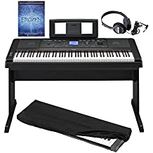 Yamaha DGX660 - 88 Key Portable Grand Digital Piano with Built-in Speakers & Acoustic Settings in Black with Dust Cover, Stereo Headphones and Frozen: Piano Book
