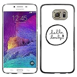 TopCaseStore / la caja del caucho duro de la cubierta de protección de la piel - So Love Quote White - Samsung Galaxy S6 SM-G920