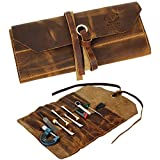 Leather Tool Roll Up Pouch - Leather Tool Pouch