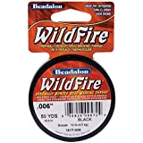 Beadalon Wildfire Thermal Bonded Beading Thread .006 Inch - Black - 50 Yd