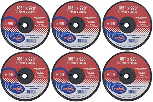 "Six (6) Pack of Vortex Trimmer Line 12180, 0.105"" X 920' 5 LBS Spools by Rotary"