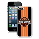 Harleydavidson Logo 14 White Shell Case for iPhone 5 5S,Fashion Cover
