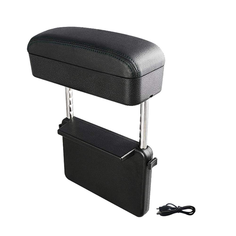 Lorchwise Storage case,Car Armrest Box Pad Storage Boxes Storage Box and seat Slot Elbow Bracket car Console Side Storage Bag,Made of eco-Friendly Leather, The armrest Box is Soft to The Touch by Lorchwise