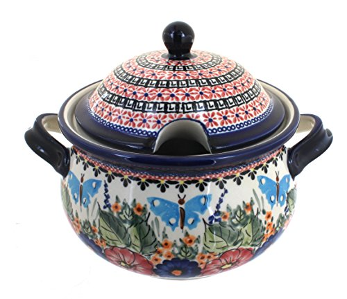 Polish Pottery Floral Butterfly Soup Tureen