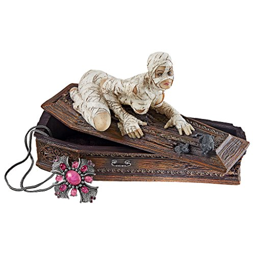 [Desk Accessories - Curse Of The Mummy's Coffin Box - Jewelry Box - Zombie Statue] (Sexy Halloween Decorations)