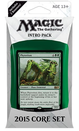 Magic the Gathering (MTG) 2015 Core Set / M15 Intro Pack / Theme Deck - Phytotitan (Green/White)(Includes 2 Booster Packs) (Core Set Theme Deck)