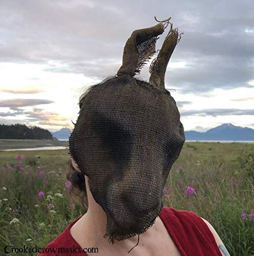 Scary Burlap Rabbit Halloween Mask - Creepy Animal