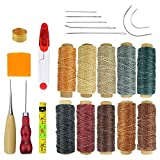 23 Pieces 10 Colors 150D 550 Yards Leather Waxed Thread Craft Tool DIY Sewing Accessories Leather Hand Sewing Needles