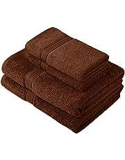 Pinzon door Amazon - Egyptische katoenen handdoekenset, 2 bad- en 2 handdoeken