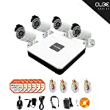 LaView 4 Camera Security System, 8 Channel Compact DVR w/500GB HDD and 4 Silver 700TVL Bullet Surveillance Camera Kit