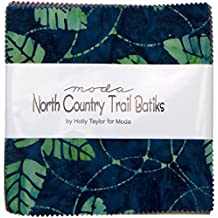 Moda NORTH COUNTRY TRAIL BATIKS Precut 5-inch Charm Pack Cotton Fabric Quilting Squares Assortment 4619PP