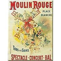 qidushop - Placa Francesa Vintage de Moulin Rouge