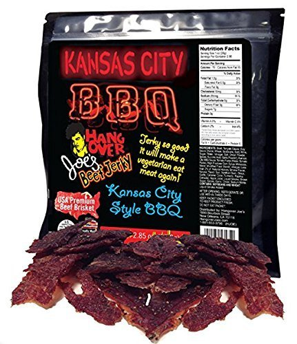 Kansas City BBQ Flavored Beef Jerky - Made with Premium USA Beef Brisket, 2.85oz (Flavored Beef)