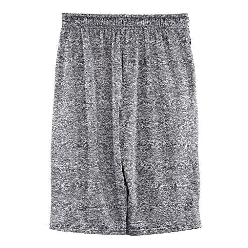 Men Sport Pants,Jchen Mens Casual Drawstring Sport Loose Jogging Pants Solid Color Shorts Calf-Length Sweatpants (XL, Gray) by Jchen Men Pants (Image #3)