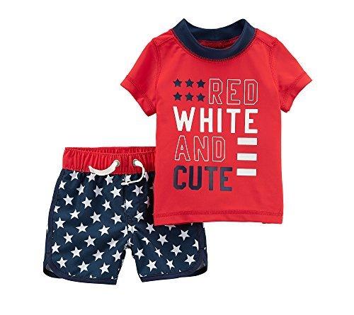 Carter's Baby Boys' 4th of July Rashguard Set 9 Months ()