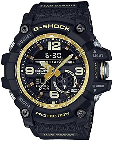 CASIO G-SHOCK MASTER OF G Vintage Black & Gold MUDMASTER GG-1000GB-1AJF MENS JAPAN IMPORT (Gshock Watches Master Of G)