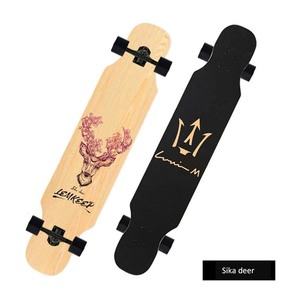 ベット 涼しいスケートボードの大人子供耐久財108cmの長い板初心者の大人のハイウェーの通り長い板 Deep 青