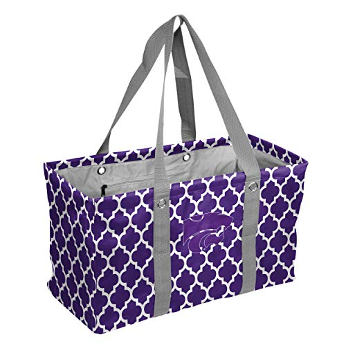 Wildcats Collapsible (Logo Brands Collegiate Large Collapsible Picnic Tote Kansas State Wildcats, Purple, One Size)