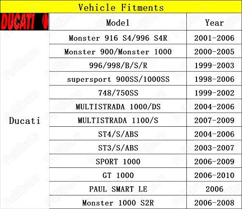CNC Superficie metálica 3D Juego palancas de freno y embrague para Ducati 748/750SS 99-02/Ducati 996/998 99-03/900SS/1000SS 1998-2006/ST3 03-07/ST4 ...