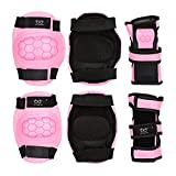 Kids Child Rollerblades Elbow Knee Pads with Wrist Guards for Inline & Roller Skating Skateboarding Cycling Protective Gear