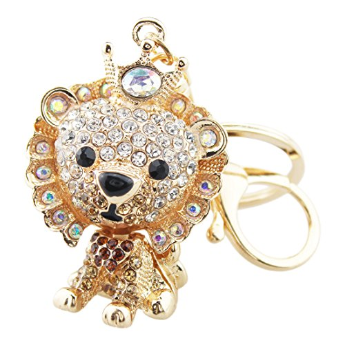 Handbag Decoration - FOY-MALL Fashion Lion Rhinestone Alloy Women Keychain for Handbag Decoration or Keys H1160