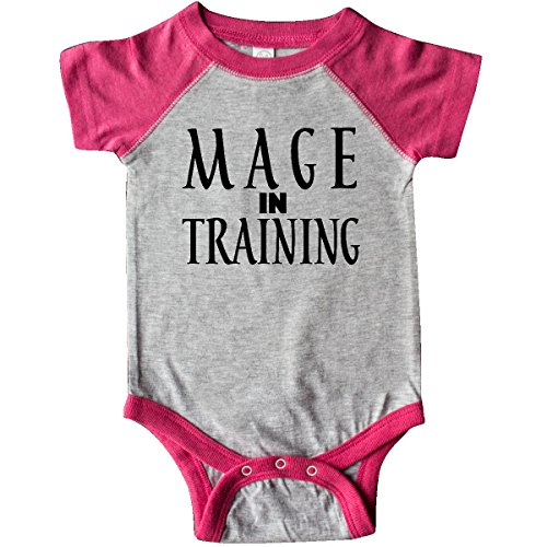 inktastic - Mage in Training Infant Creeper 24 Months Heather and Hot Pink