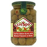 Crespo Green Olives Stuffed with Minced Pimento in Brine (354g)
