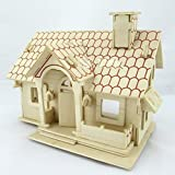 Kaden G-P 3D Jigsaw Woodcraft DIY Assembly Construction Model House Container Puzzle Kit Wooden Handcraft Educational Products Wooden Art jigsaw puzzle toys for children diy handmade wooden