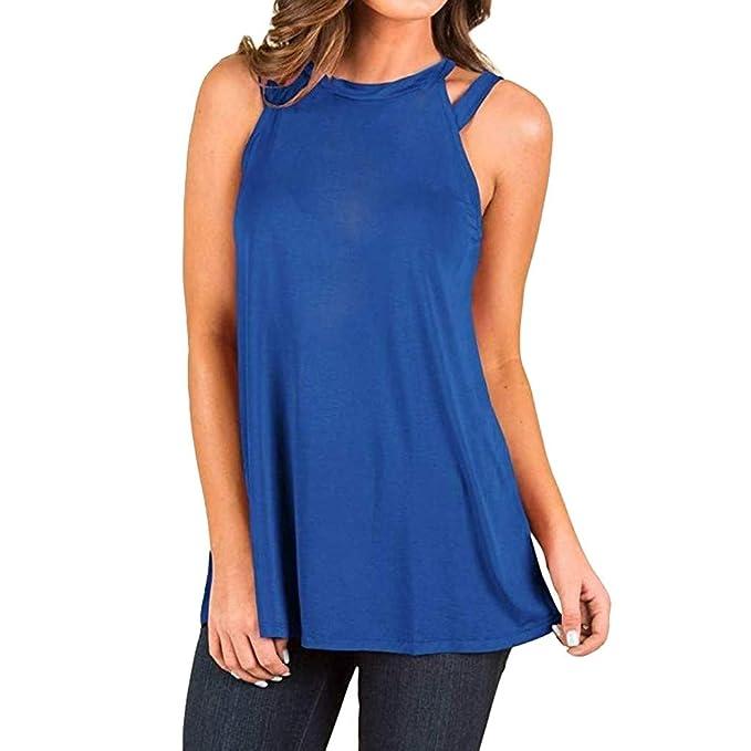 8fe4b83755 URIBAKY ✤✤Elegante Camisetas para Mujer Blusa Sin Mangas Chaleco De Gasa  Tops  Amazon.es  Ropa y accesorios