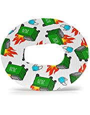 GrifGrips Adhesive Patches: 2020 Dumpster Fire: Oval Shapes for Your Dexcom G6 - Extreme Formula - 20 Pack - CGM Patches - Securement Tape with Internal Cut - Made in The USA