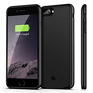 iPhone 8 Plus / 7 Plus Battery Case With Audio, Sgrice 4200mAH External Protective Battery Case for iPhone 7 Plus Battery charger Case [Ultra Slim] ( Support Lightning Headphones)-black
