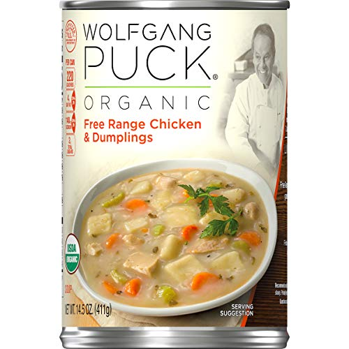 (Wolfgang Puck Organic Free Range Chicken & Dumplings Soup, 14.5 oz. Can)