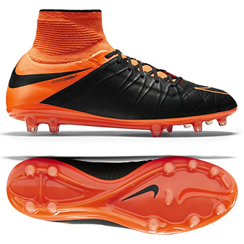 Nike Hypervenom Phantom II LTHR Firm Ground-nero