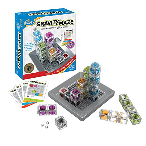 Think Fun Gravity Maze Marble Run Logic Game and STEM Toy for Boys and Girls Age 8 and Up – Toy of the Year Award Winner