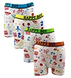Mmiao Baby 2t-10t Kids Boys Boxer Briefs 4-pack Underwear Car and Aircraft