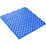 Ship Now Supply SNMAT320BE Lok-Tyle Drainage Mats, Tile, 12'' x 12'', width, 12'' Length, Blue