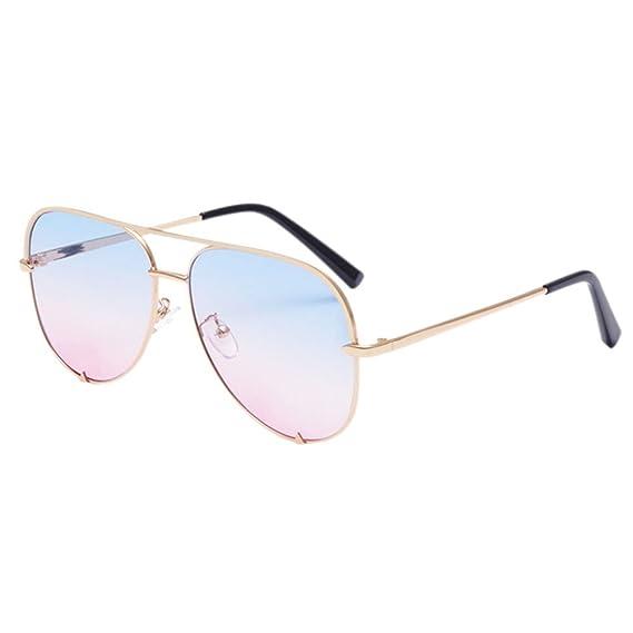 Deylaying Gafas de sol de moda Anti-aviador Gafas de Aviador Marco ...