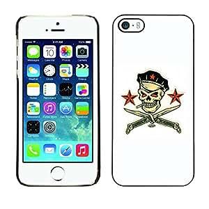 LASTONE PHONE CASE / Carcasa Funda Prima Delgada SLIM Casa Carcasa Funda Case Bandera Cover Armor Shell para Apple Iphone 5 / 5S / Pirate Skull White Communist Russian