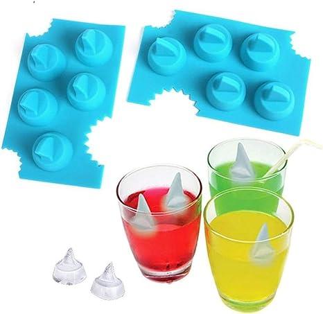 HelpCuisine Moldes de silicona para hacer hielos//Moldes en forma de Iceberg y barco 24 meses de Garantia Juego de 2pz