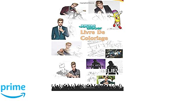 Amazoncom Exclusif Justin Bieber Livre De Coloriage Never Say