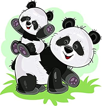 Amazon Com Cute Adorable Kawaii Baby Mother Father Panda Bear Cartoon Vinyl Sticker Baby On Back Automotive