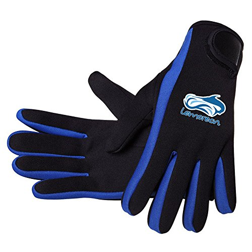 Lemorecn Wetsuits Gloves Scuba Premium Neoprene 1.5mm Diving Gloves Five Finger Glove