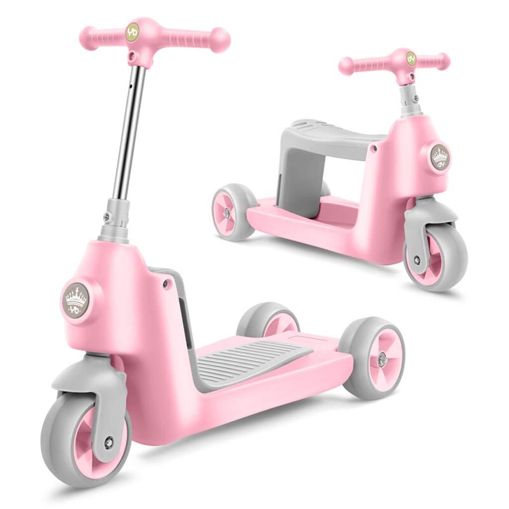 品質検査済 3-in-1多目的子供用スクーターキッズバランスバイクツイストカースクーターリフト可能シートは乗ることができます (色 : Pink Pink) Pink) Pink : B07PR76XH3, 【激安大特価!】:2a315b29 --- senas.4x4.lt