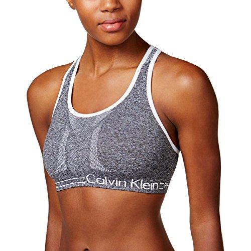 Calvin Klein Performance Womens Reversible Quick Dry Sports Bra Gray XL